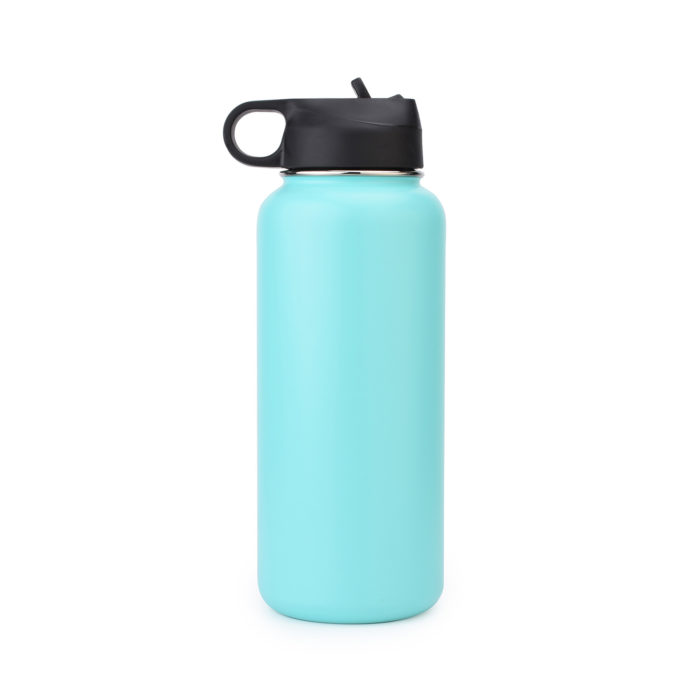 stainless steel water bottle with straw cap