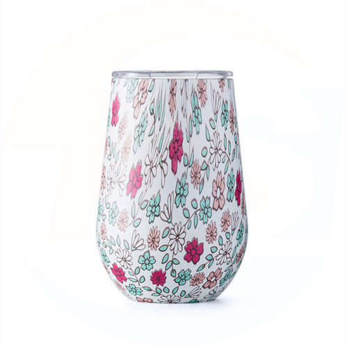 double wall vacuum insulated stainless steel wine tumbler