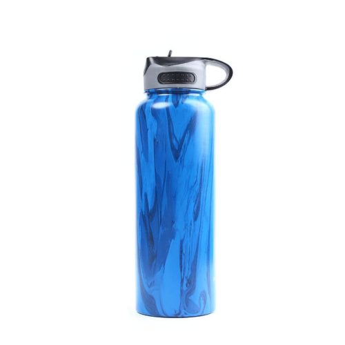 Vacuum Insulated Stainless Steel Wide Mouth Water Bottle 40 oz with Straw Lid