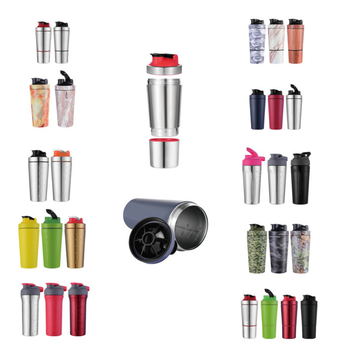 dismoutable tumbler shaker bottle
