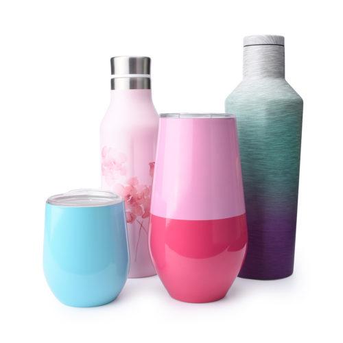 stainless steel wine bottle and wine mug kit