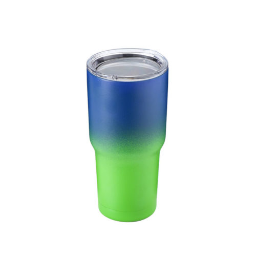 tumbler with clear lid