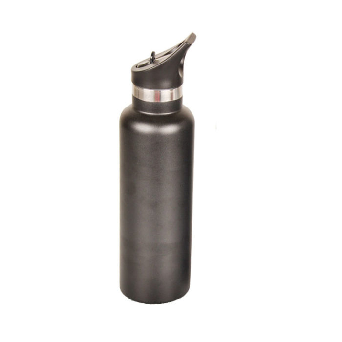Vacuum Insulated Stainless Steel Standard Mouth Water Bottle with Straw Lid