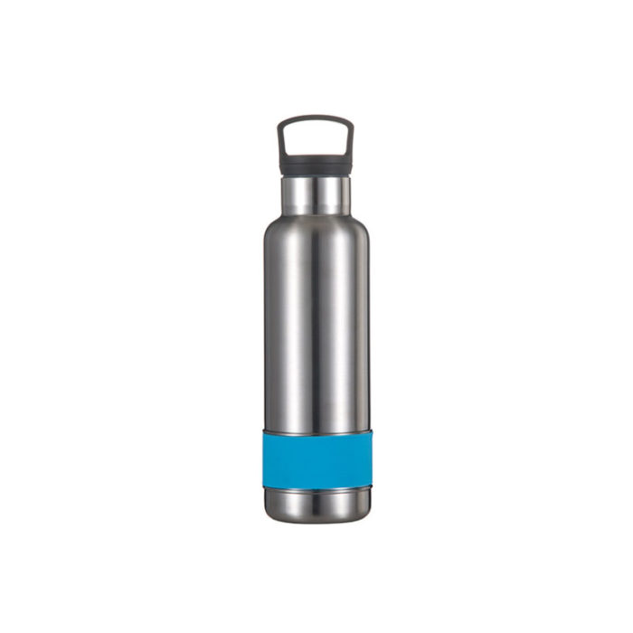 Vacuum Insulated Stainless Steel Standard Mouth Water Bottle with Circular Handle Lid