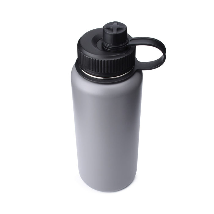 water bottle with spout lid