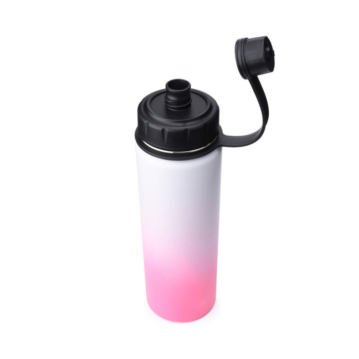 stainless steel water bottle with spout lid