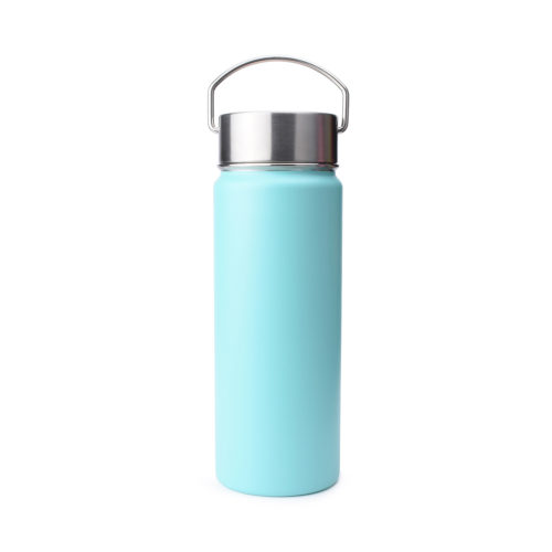 water bottle with stainless steel handle