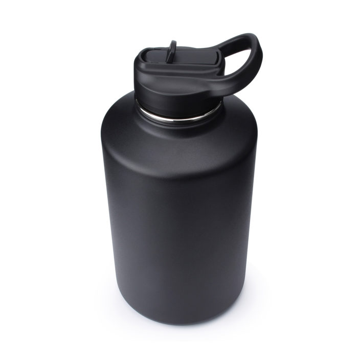 wide mouth water bottle 64 oz with straw lid