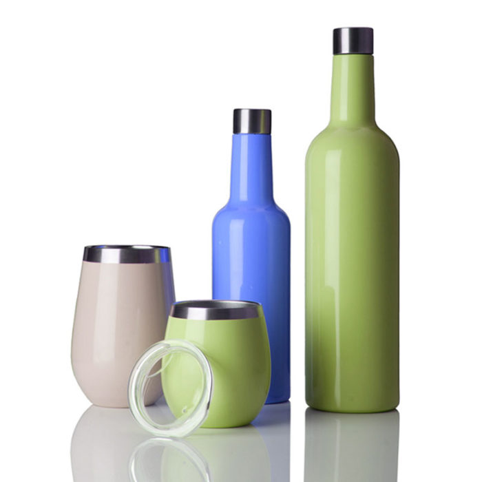 wine bottle and wine cup