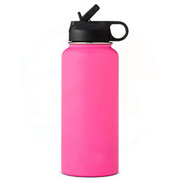 wide mouth water bottle with straw