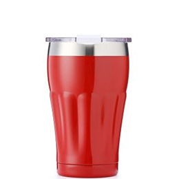 insulated water tumbler with clear flip lid