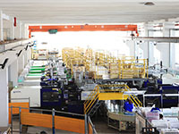 plastic injection molding line