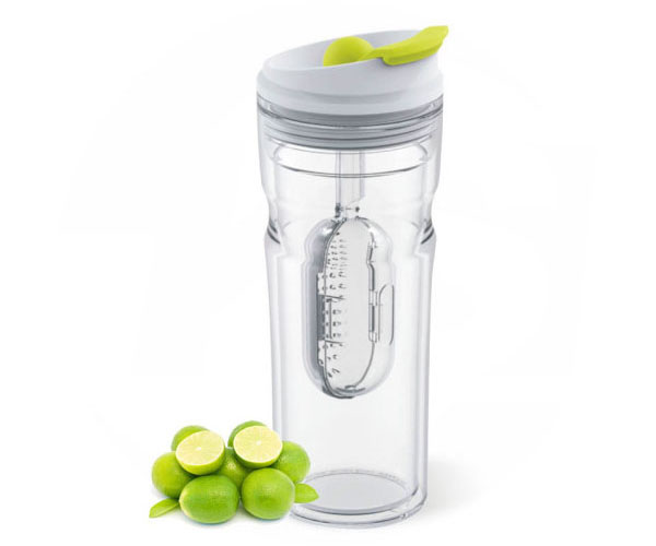 tritan bottle with fruit infuser