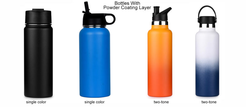 powder coating insulated stainless steel water bottles