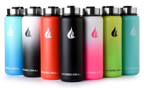 water bottle with silk screen logo