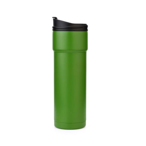 stainless steel tumbler travel mug with flip lid