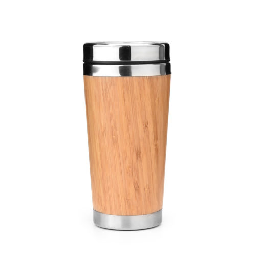 bamboo stainless steel bottle travel tumbler coffee mug
