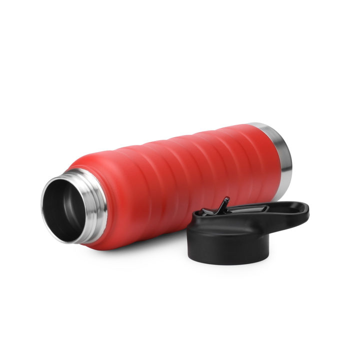 thermal insulated sports bottle with straw cap