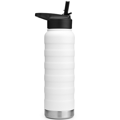 vacuum insulated stainless steel drink bottle with straw cap