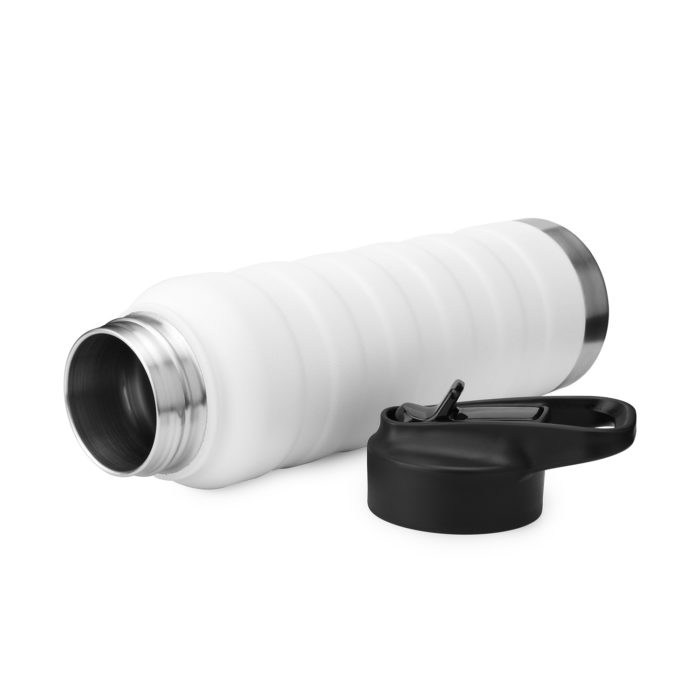 vacuum insulated stainless steel water bottle with straw cap