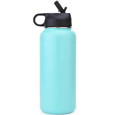 insulated stainless steel wide mouth bottle with straw lid