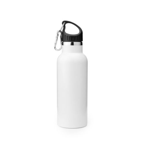 vacuum insulated stainless steel water bottle with carabiner