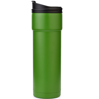insulated stainless steel travel mug coffee cup with flip lid