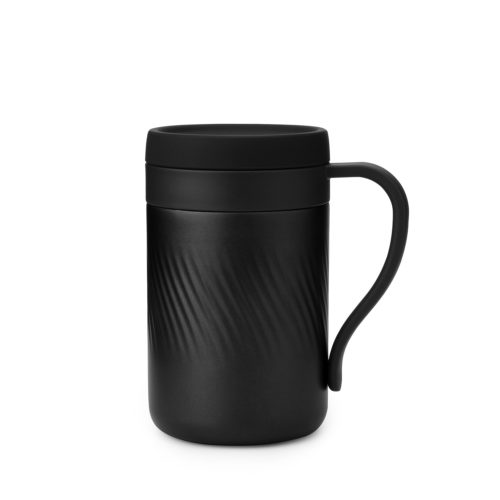 reusable stainless steel thermos coffee mug tumbler with handle