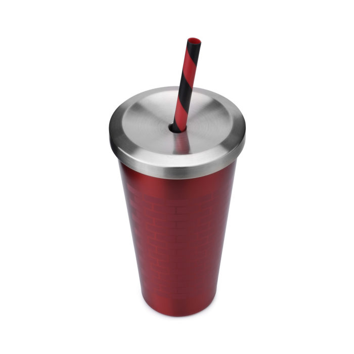 vacuum sealed stainless steel travel mug tumbler with straw lid