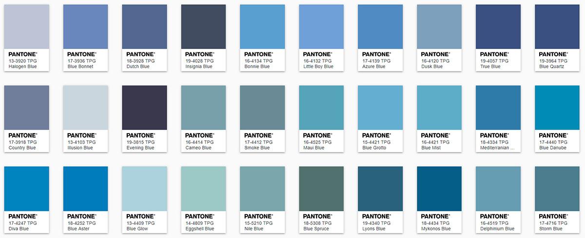 blue color in Pantone