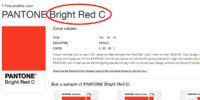 pantone bright red c for custom water bottles