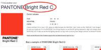 pantone bright red c for custom water bottles