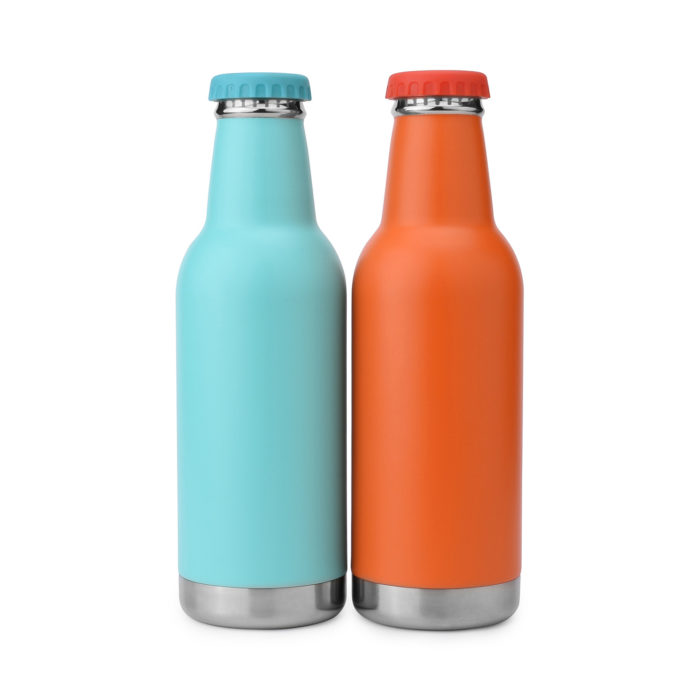vacuum insulated double walled stainless steel beer bottle pint