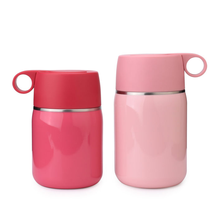 vacuum insulated stainless steel double wall food jar flask container