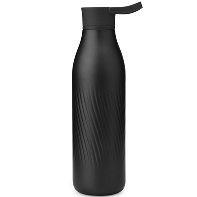 narrow mouth stainless steel water bottle with handle
