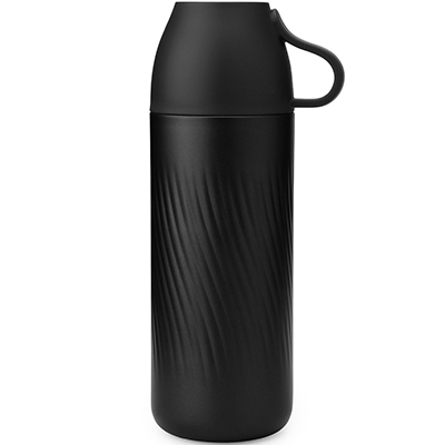 vacuum flask with built-in storage cup cap