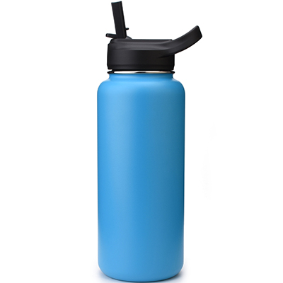 wide mouth water bottle with quality straw cap