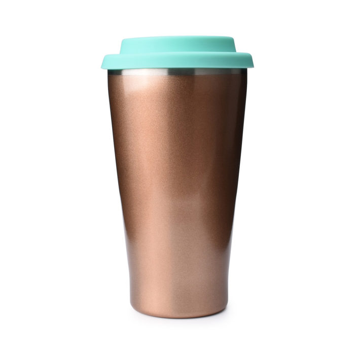 stainless steel tumbler with silicon lid