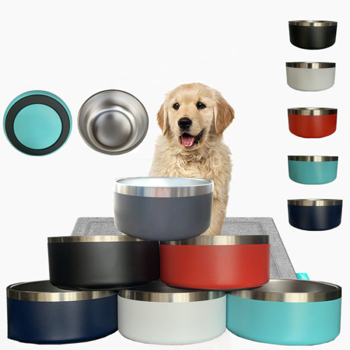 stainless steel dog bowl 64oz