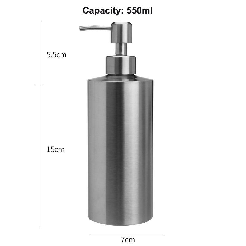 stainless steel soap dispenser 550ml