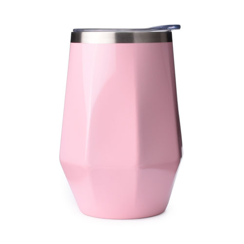 diamond shaped stainless steel tumbler cup mug