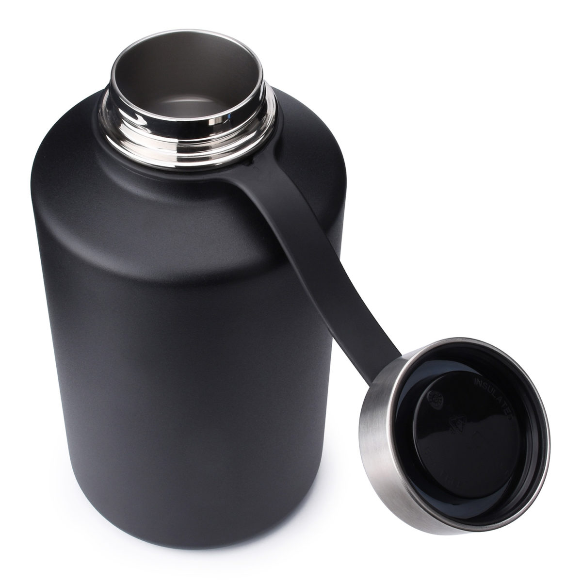 stainless steel water bottle 64oz 2qt
