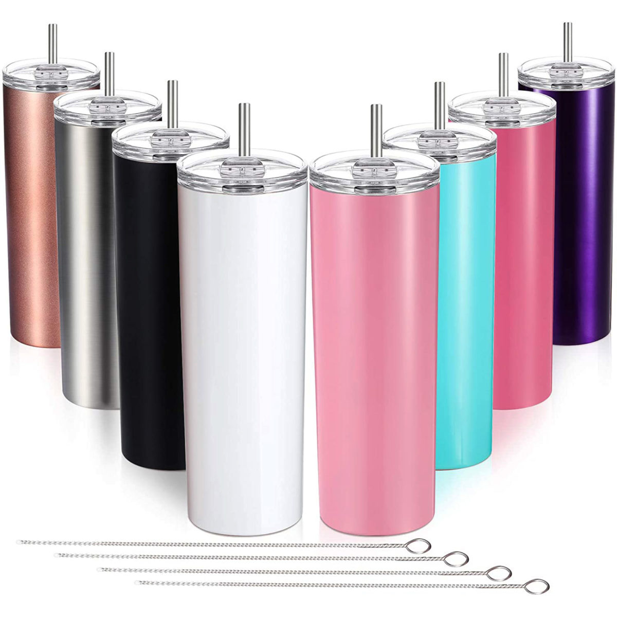 skinny metal tumbler cup 20 oz
