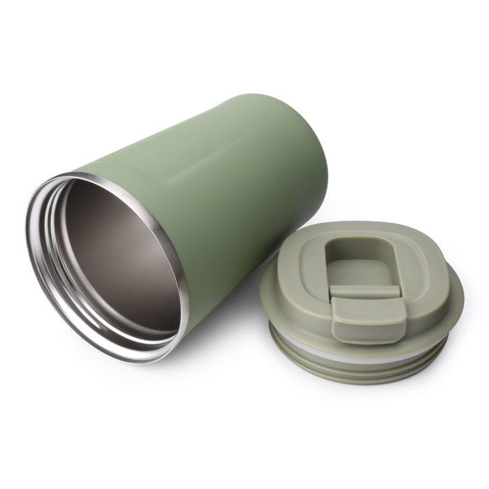 stainless steel tumbler travel mug with flip lid