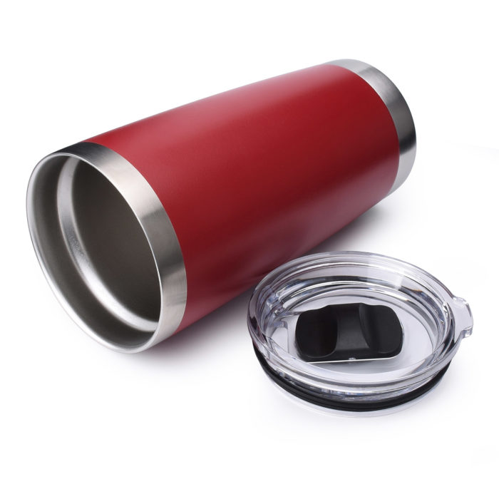 20 oz tumbler with magnetic slide lid