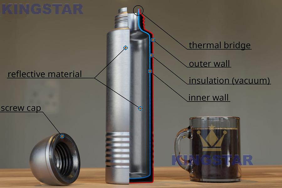 thermos metal vacuum flask