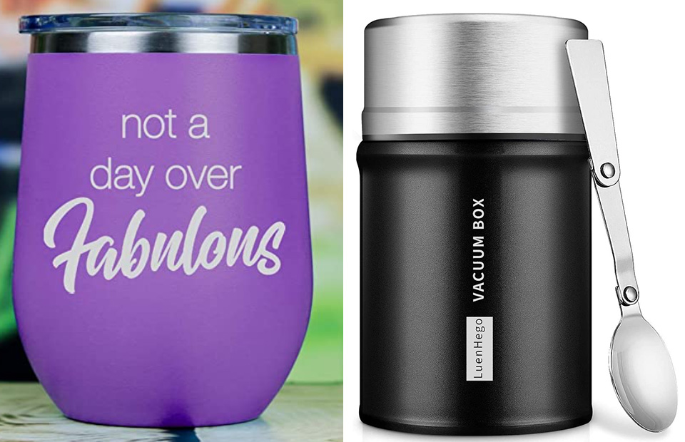 stainless steel mug container with silk screen printed logo