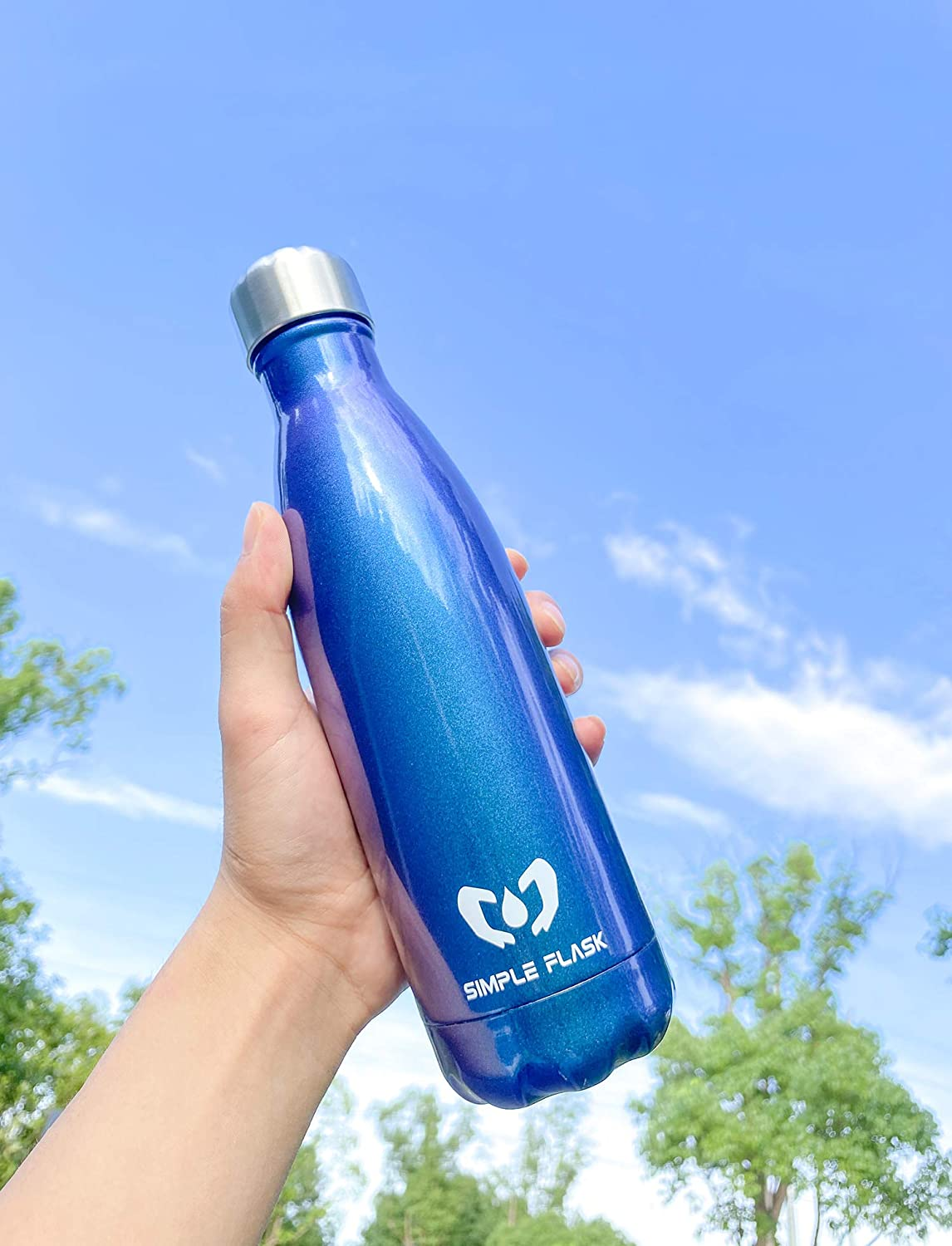 stainless steel water bottle with silk screen logo