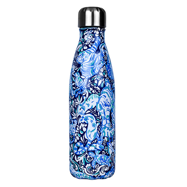 custom water bottle with sublimation printing pattern