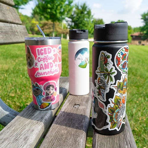 custom insulated water bottles with stickers